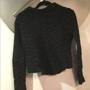 Black tweed sweater